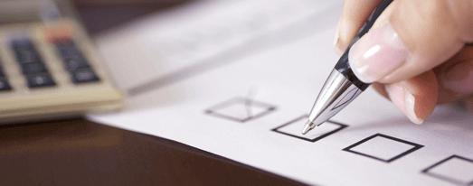 Checklist met de hand schrijven